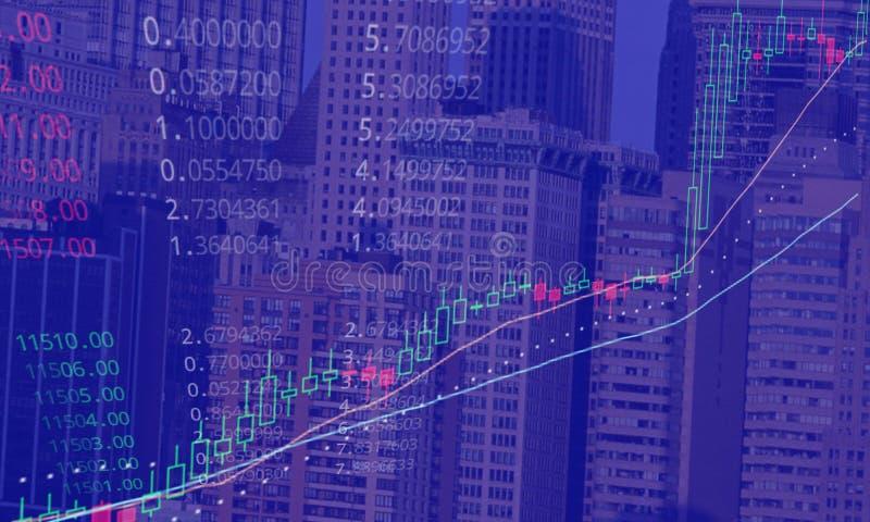 Conceito de aumentação do mercado de valores de ação de Bitcoin ilustração stock