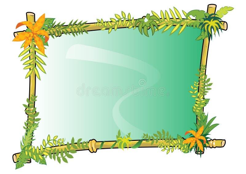 Conceito de bambu do frame dentro   ilustração do vetor