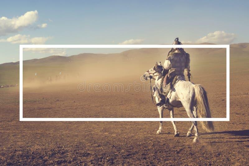 Conceito de Battlefield Fighting Historical do líder do exército foto de stock
