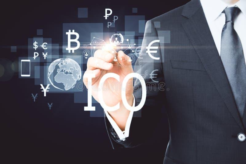 Conceito de Bitcoin fotografia de stock royalty free