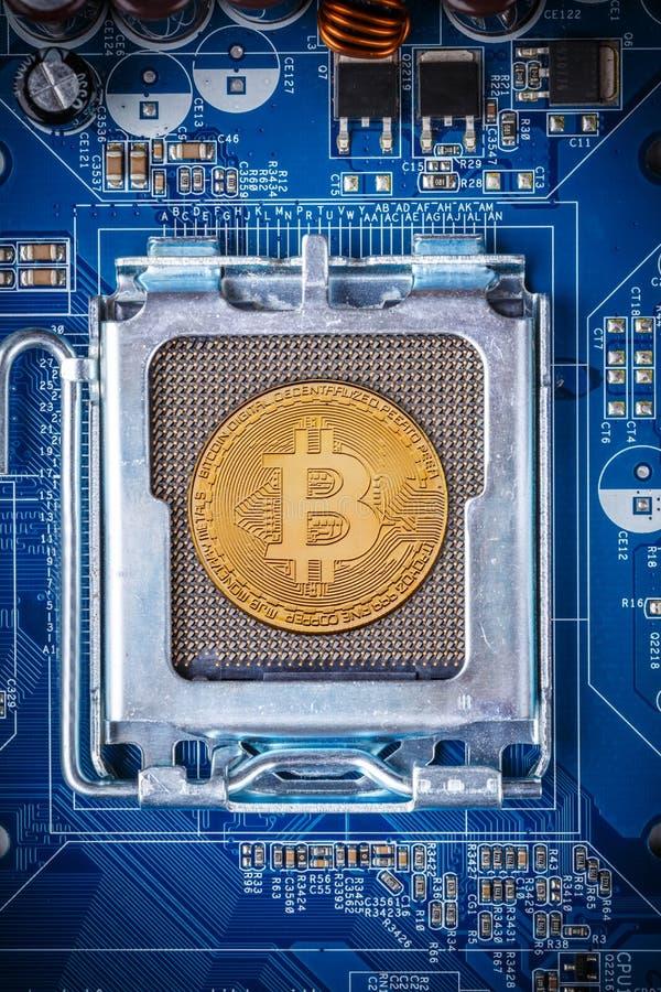 Conceito de Bitcoin imagem de stock royalty free