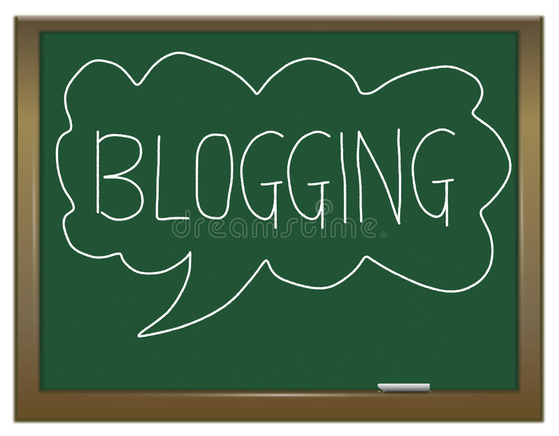Conceito de Blogging. ilustração stock