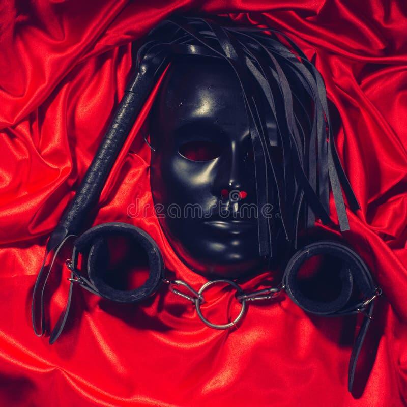 Conceito de bondage, jogos sexuais de adultos cinzas, kink e estilo de vida BDSM fotografia de stock royalty free