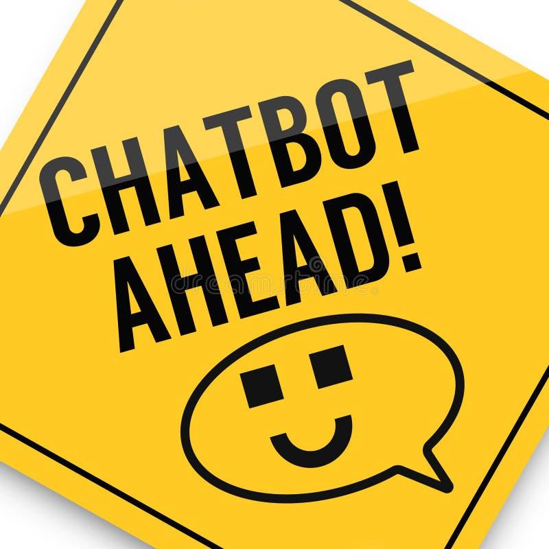 Conceito de Chatbot, cartaz da imagem do negócio, qualidade super ilustração stock