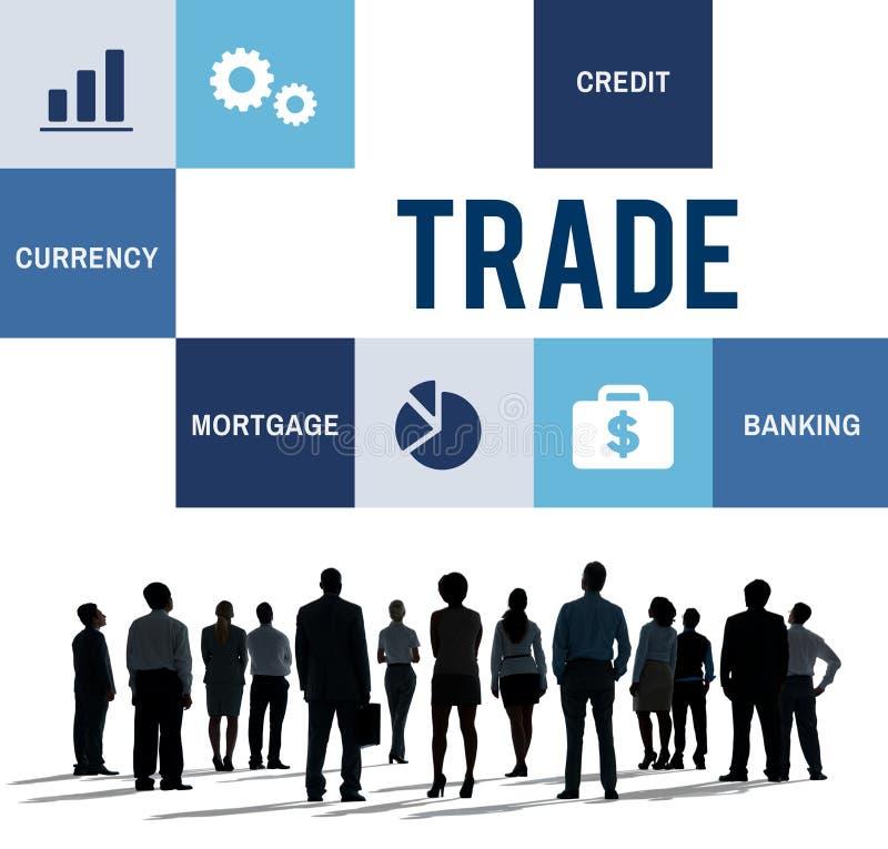 Conceito de comércio da finança da contabilidade da economia foto de stock