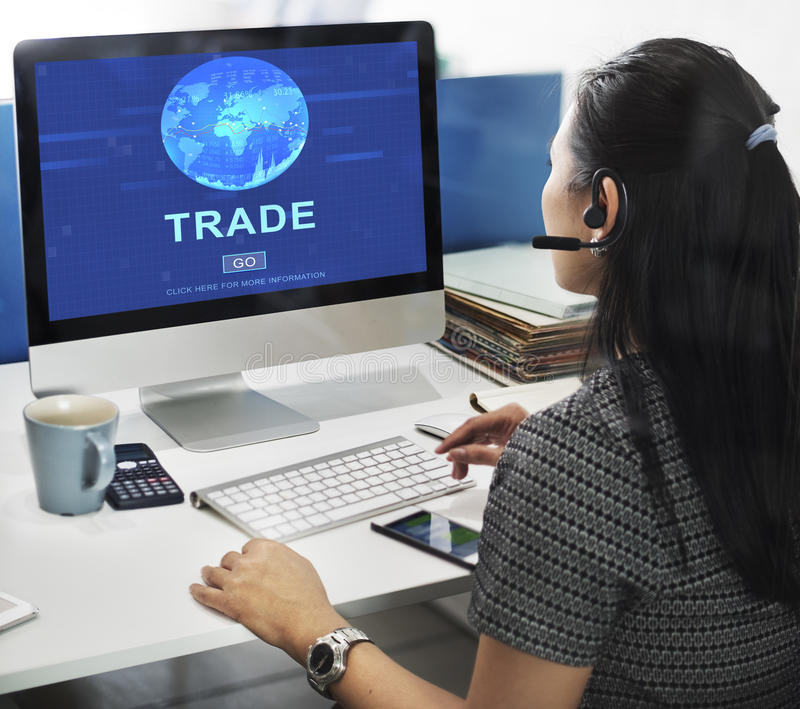 Conceito de comércio da mercadoria da troca do comércio da troca fotos de stock royalty free