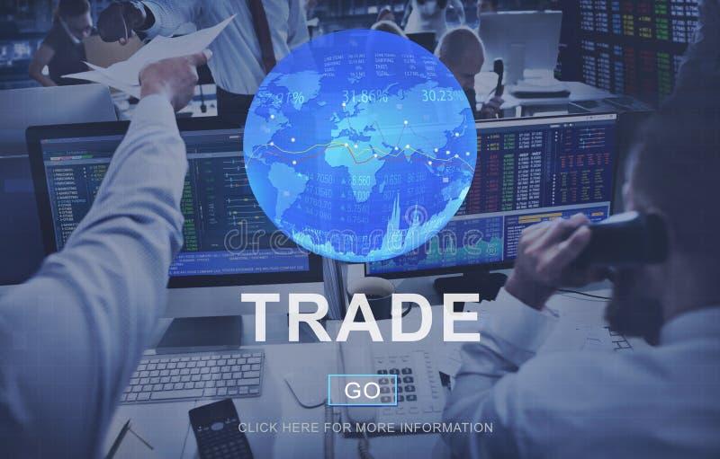 Conceito de comércio da mercadoria da troca do comércio da troca fotografia de stock