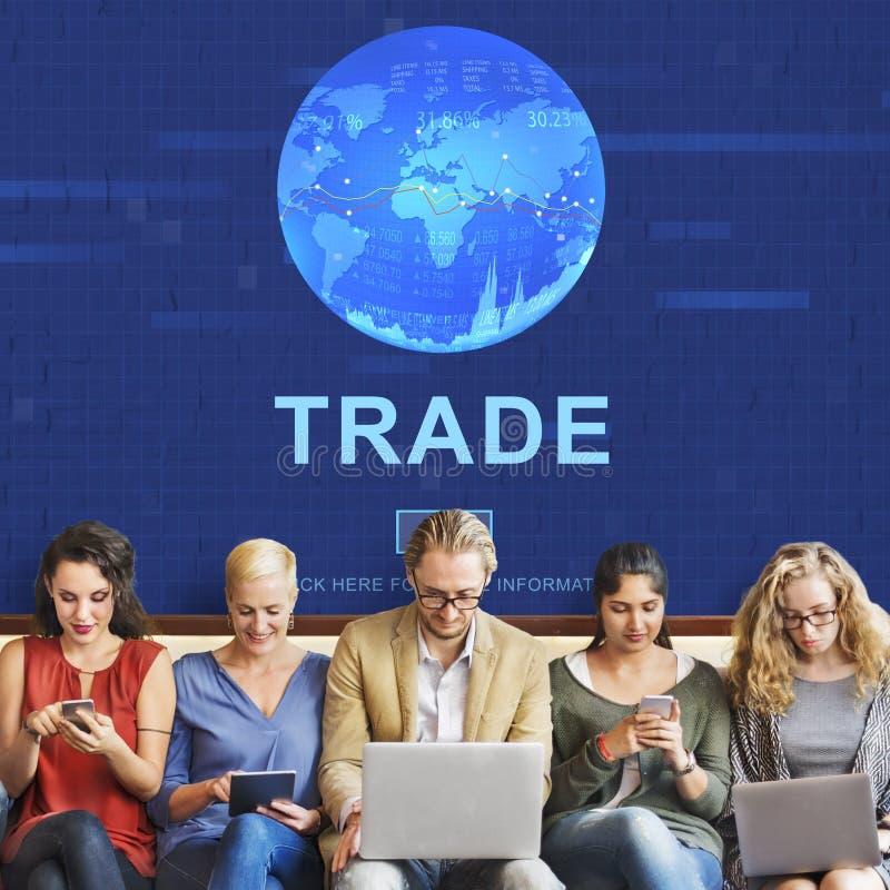 Conceito de comércio da mercadoria da troca do comércio da troca fotos de stock
