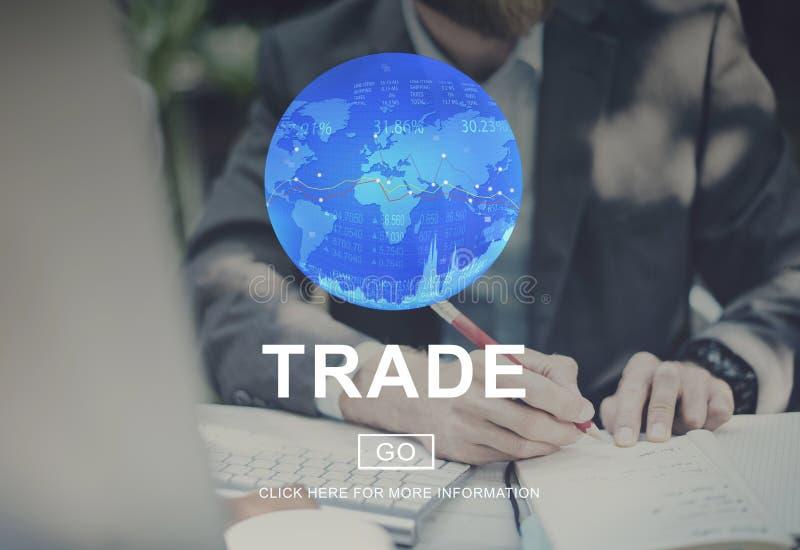 Conceito de comércio da mercadoria da troca do comércio da troca imagem de stock