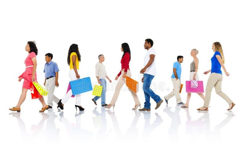 Conceito de compra da venda do consumidor do cliente varejo da compra fotos de stock