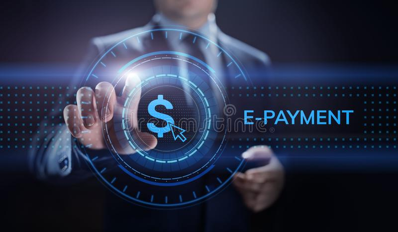 conceito de compra em linha do negócio do Internet de transferência de dinheiro de Digitas do E-pagamento foto de stock