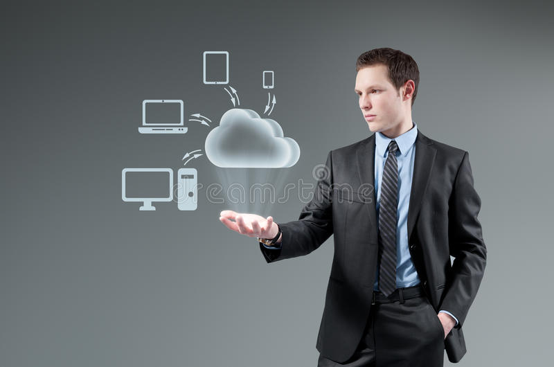 Conceito de computação da nuvem. fotos de stock royalty free