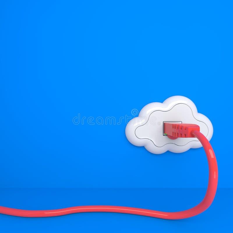 Conceito de computação da nuvem. ilustração stock