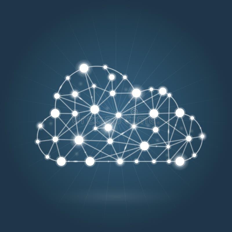 Conceito de computação da nuvem - Internet ilustração royalty free