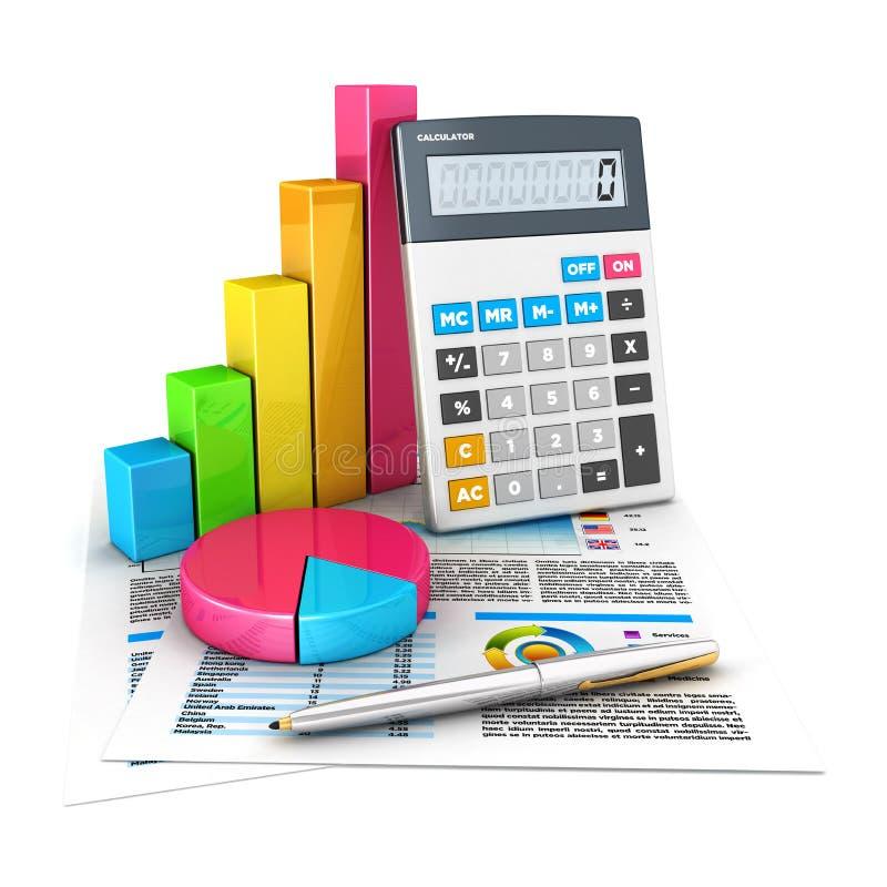 conceito de contabilidade 3d ilustração royalty free