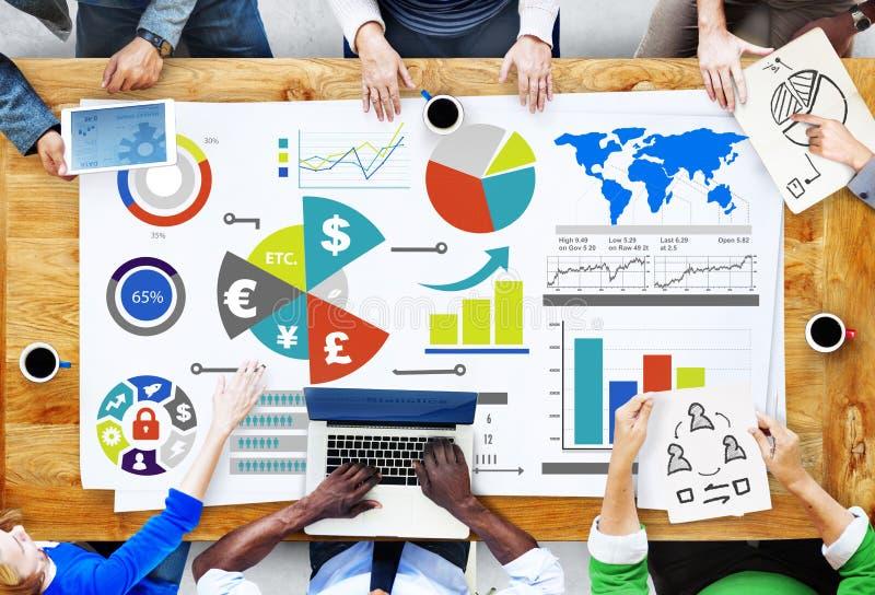 Conceito de contabilidade financeiro da troca da economia do negócio da finança fotos de stock royalty free