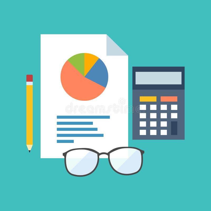 Conceito de contabilidade Projeto liso à moda ilustração royalty free