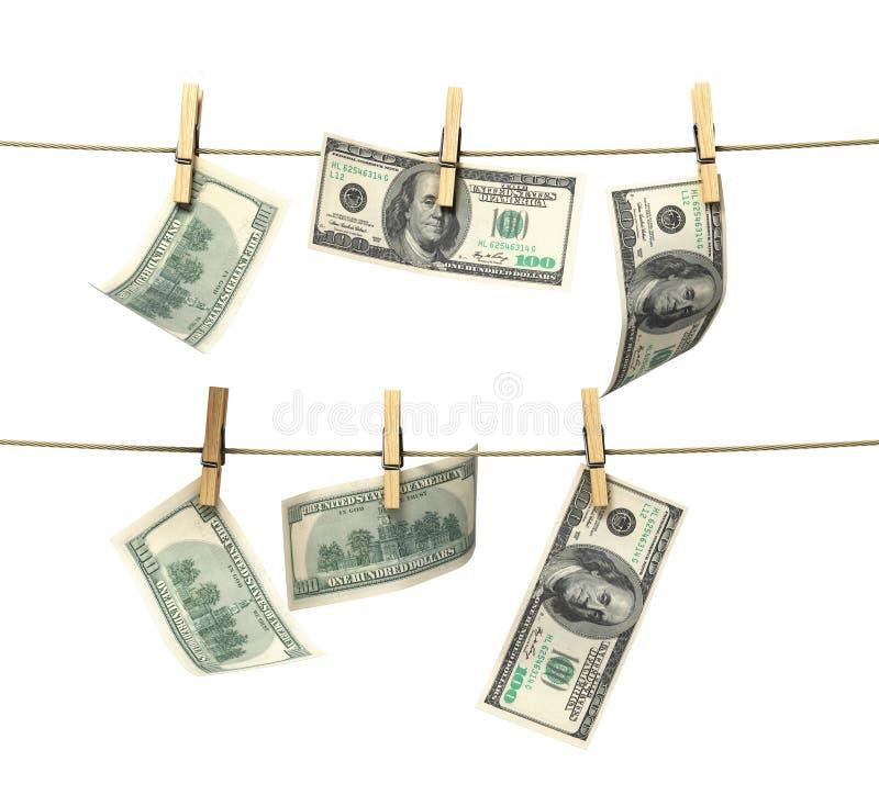 Conceito de contas de dinheiro do dólar da lavagem de dinheiro ilustração royalty free