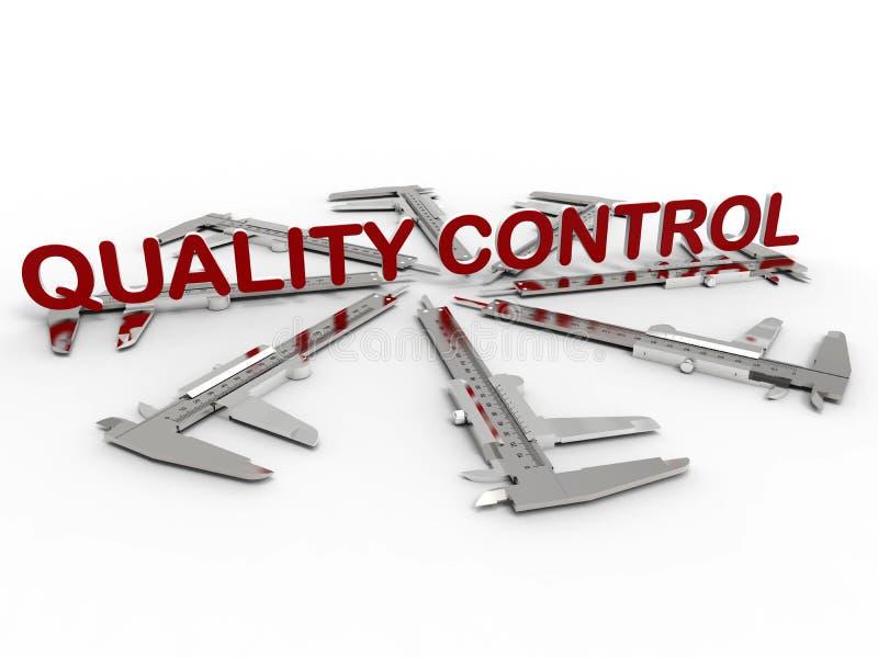 Conceito de controle da qualidade ilustração stock