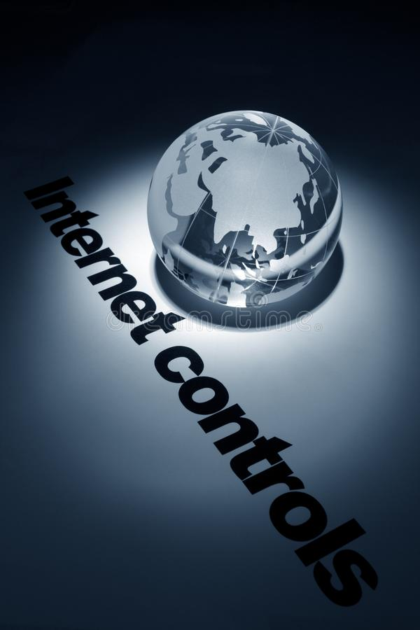 Conceito de controles do Internet imagens de stock
