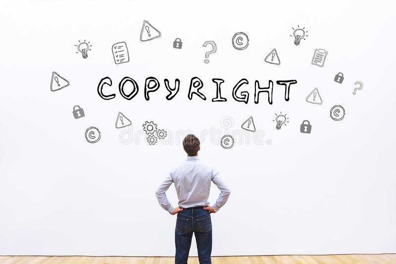 Conceito de Copyright foto de stock royalty free