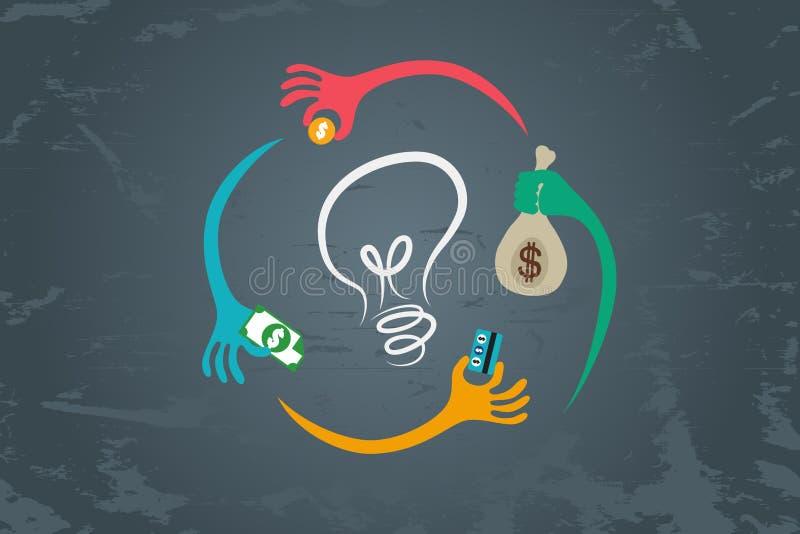 Conceito de Crowdfunding ilustração royalty free