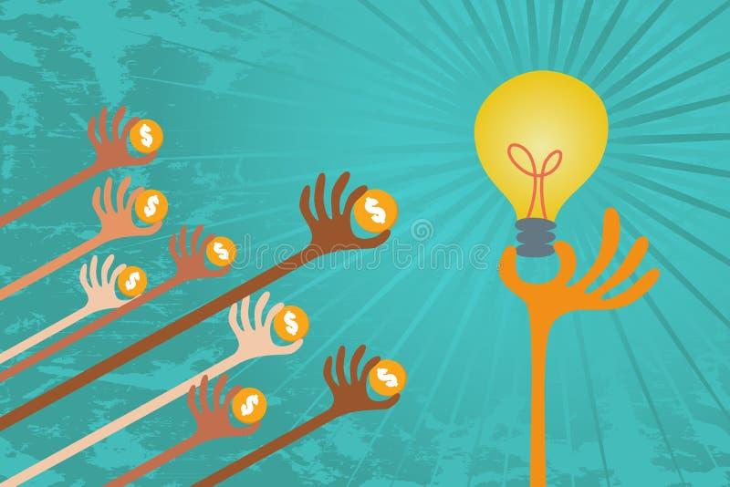 Conceito de Crowdfunding ilustração do vetor