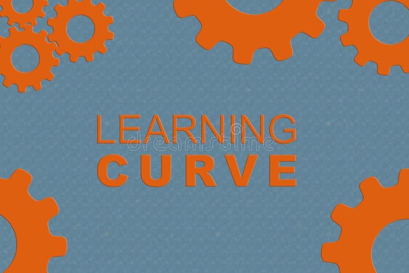 Conceito de curva de aprendizagem ilustração stock