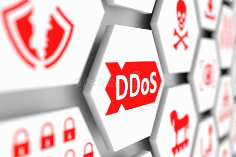 Conceito de DDoS ilustração stock