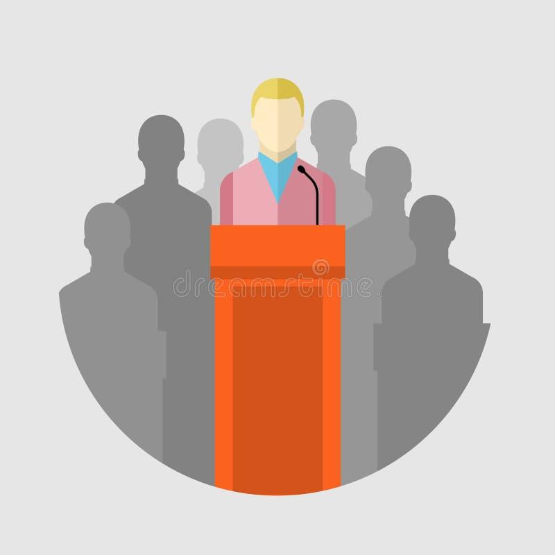 Conceito de debates da eleição ilustração do vetor