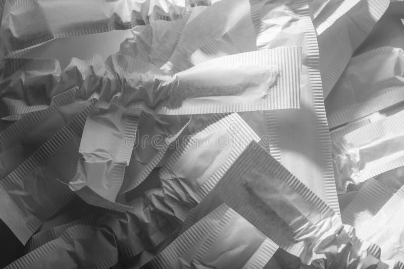 Conceito de desperdício de papel emptiness imagens de stock
