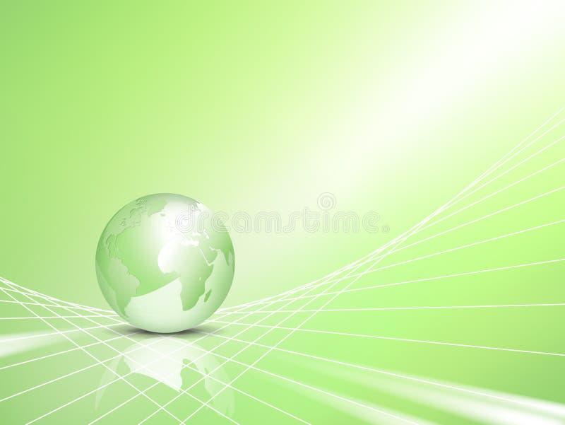 Conceito de Eco - fundo do negócio com globo ilustração royalty free
