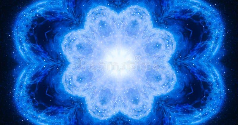 Conceito de energia das almas Contexto dramático abstrato Espaço, meditação, padrão de relaxamento ilustração stock