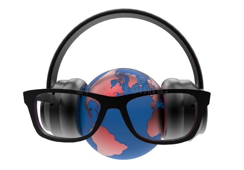 Conceito de escuta do globo ilustração royalty free