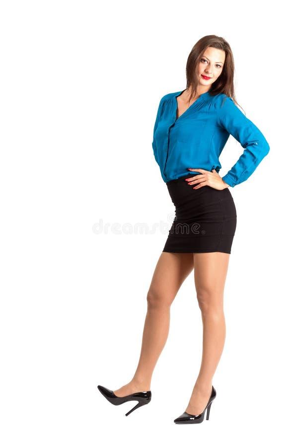 Conceito de espera novo da mulher de negócio imagens de stock