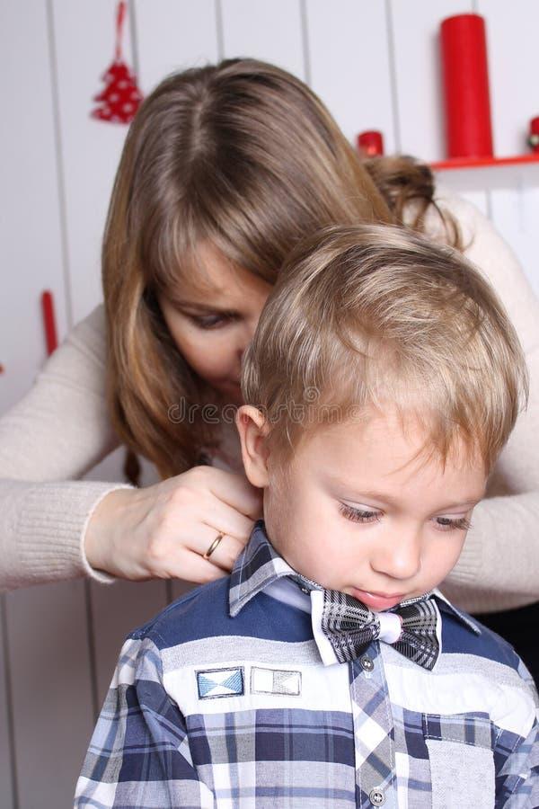 Conceito de família matriz e filho imagem de stock