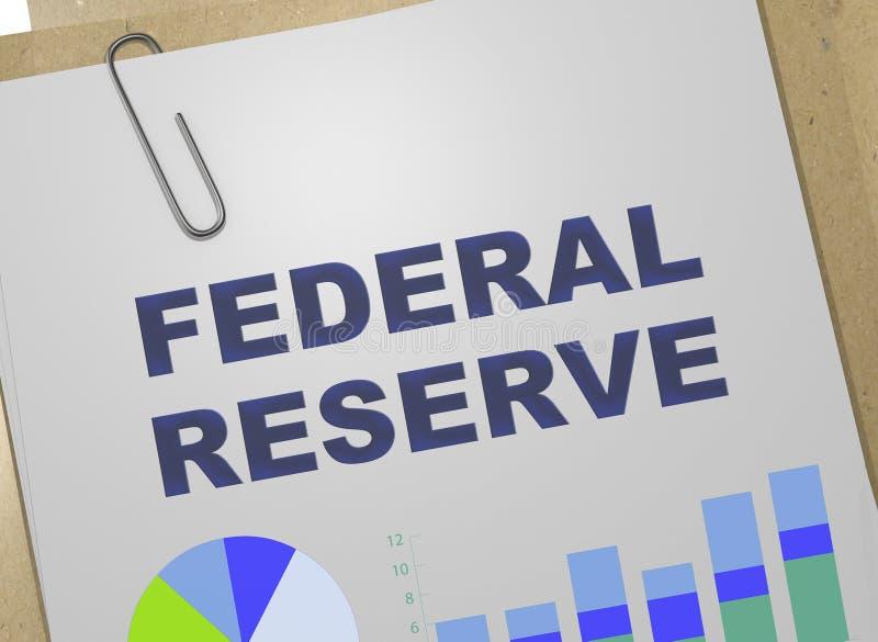 Conceito de Federal Reserve ilustração stock