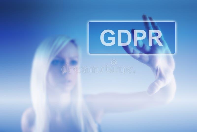 Conceito de GRPR - regulamento geral da proteção de dados fotografia de stock royalty free