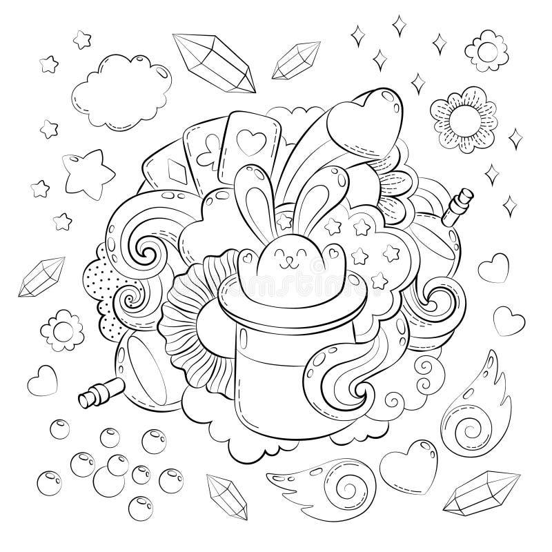 Conceito De Halloween Ilustracao Tirada Mao Da Garatuja Dos Desenhos Animados Teste Padrao Magico Ilustracao Para O Livro Para Co Ilustracao Do Vetor Ilustracao De Magico Tirada 122280816