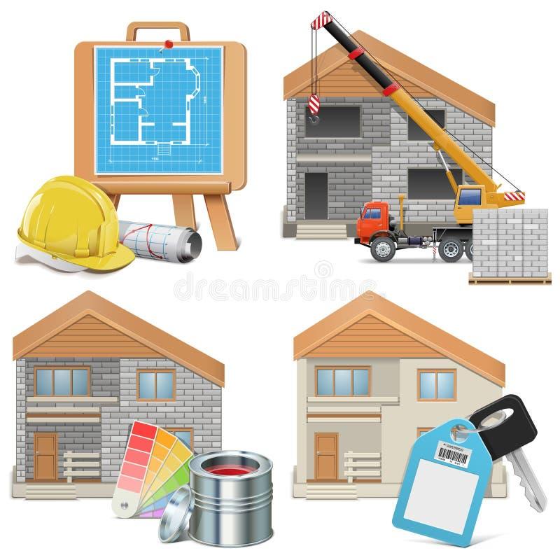 Conceito de Homebuilding do vetor ilustração royalty free