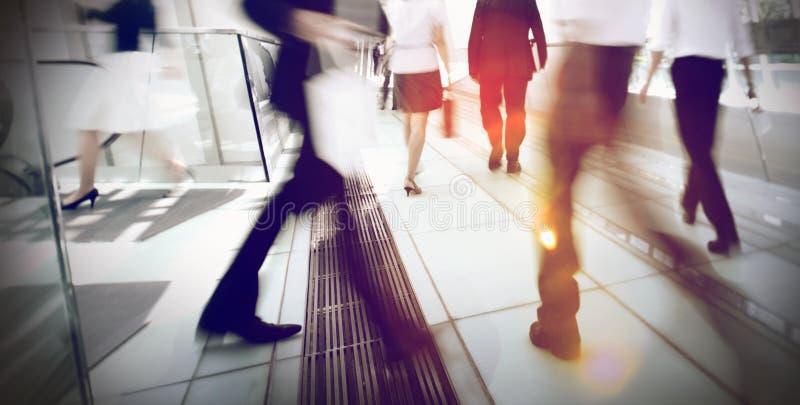 Conceito de Hong Kong Business People Commuting foto de stock
