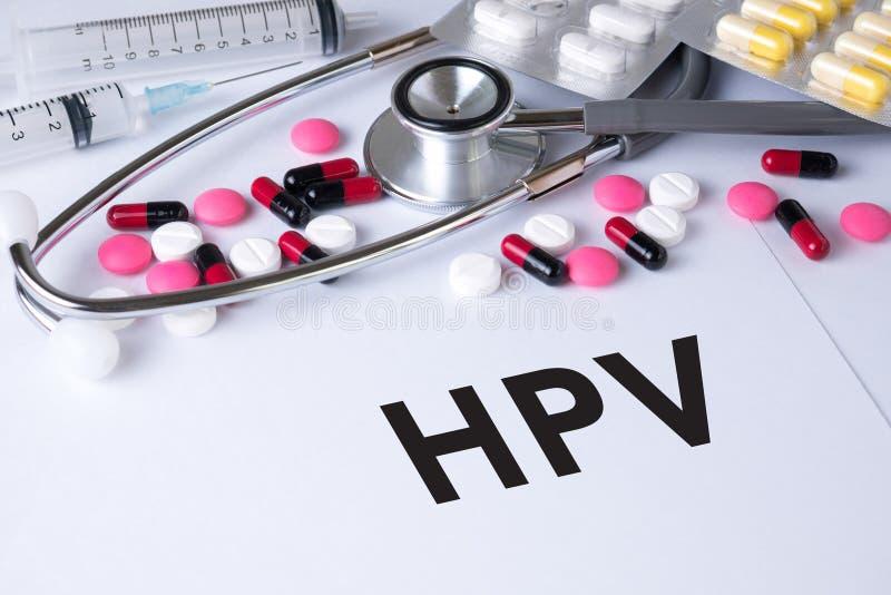 CONCEITO DE HPV foto de stock royalty free