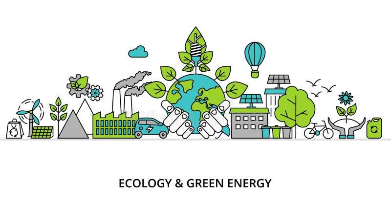 Conceito de Infographic do problema da ecologia ilustração royalty free