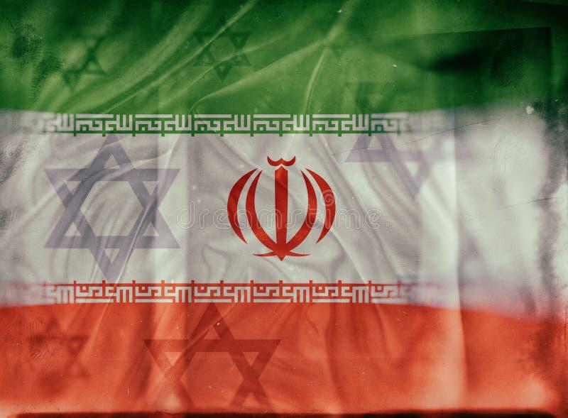 Conceito de Israel e de Irã ilustração stock