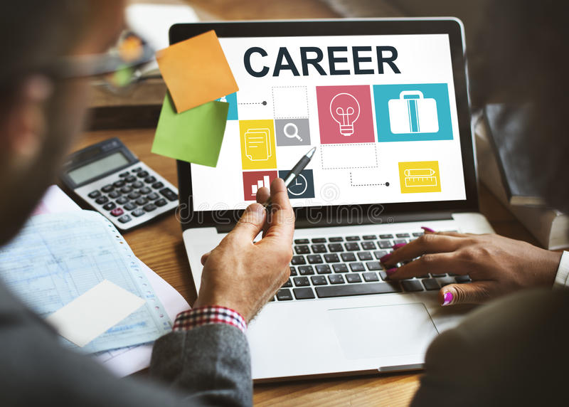 Conceito de Job Opportunites Motivation Employment Competence fotografia de stock royalty free
