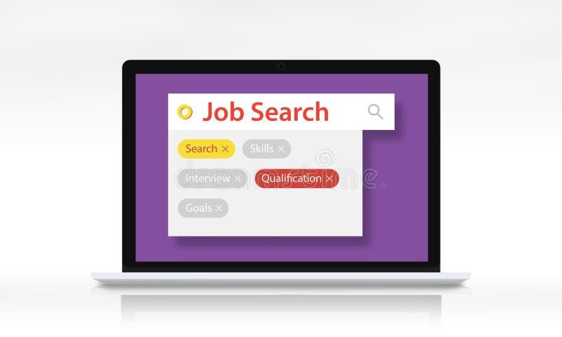 Conceito de Job Search Employment Recuritment Resume ilustração royalty free