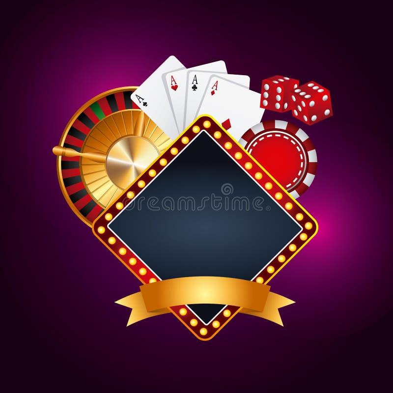 Conceito de jogo do casino ilustração stock
