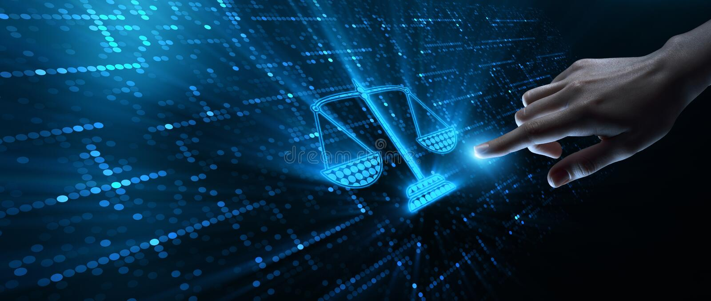 Conceito de Legal Business Technology do advogado da lei laboral fotografia de stock
