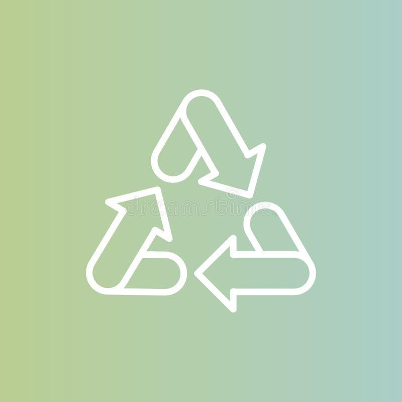 Conceito de Logo Set Badge Recycling Ecological, fundo da cor pastel do inclinação ilustração royalty free