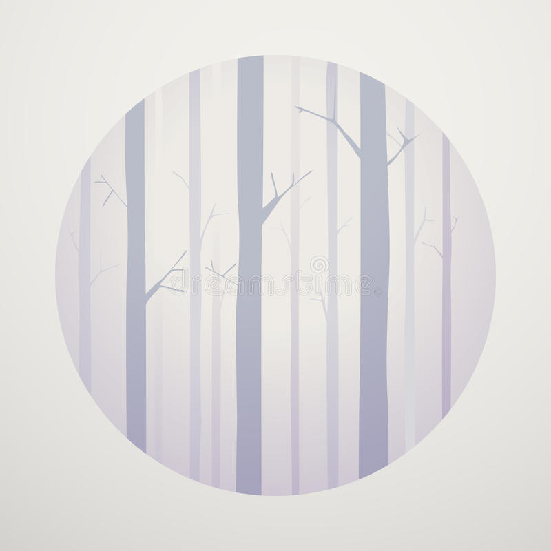 Conceito de madeira do gráfico do larício do vetor abstrato ilustração do vetor